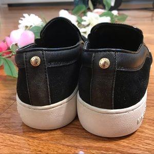 Michael Kors Shoes - Michael Kors Keaton Black Suede Slip On Sneakers